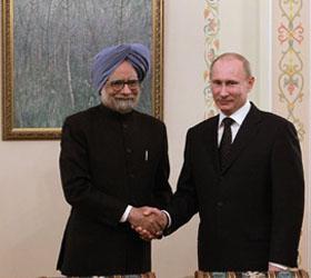 Президент России начал переговоры с премьер-министром Индии