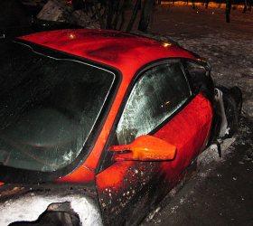 На юго-западе столицы сгорел автомобиль Ferrari