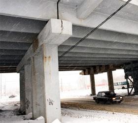 Химмашевский мост дал трещину спустя год после капремонта