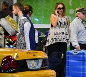Жанна Фриске и Дмитрий Шепелев прилетели в Майами