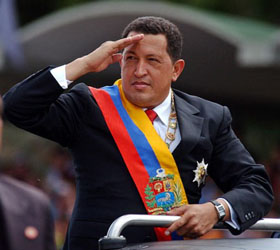 Тысячи людей вышли на улицы Каракаса в поддержку Уго Чавеса
