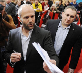 В Москве свой новый фильм представил Джейсон Стэтхэм