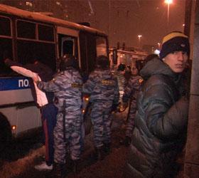 Полицией отпущены болельщики, задержанные в столице