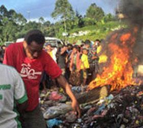 В Папуа-Новой Гвинее была заживо сожжена двадцатилетняя ведьма