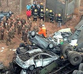 Китайская полиции подтверждает гибель шести человек в результате обрушения моста