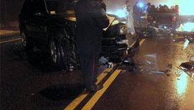 Супруга Реброва попала в аварию