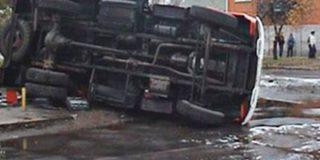 Иномарка «протаранила» автобус