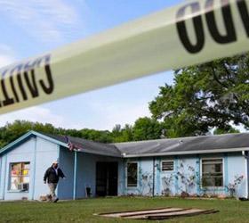 В США возле жилых домов вновь образовалась земляная воронка
