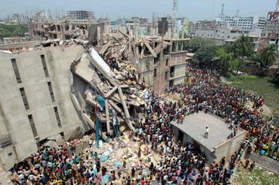 Рухнуло здание в Бангладеше