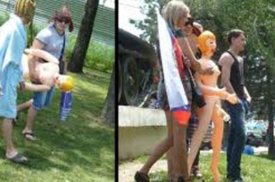 Участники фотоссесии с секс-куклой, ответят в суде