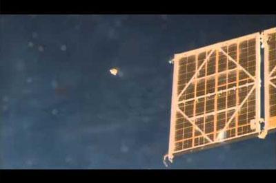 Астронавт NASA принял за НЛО чехол от российского модуля «Звезда»