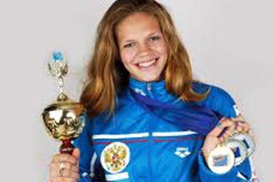 Россиянка установила мировой рекорд по плаванью