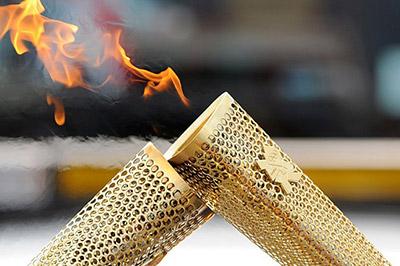 В МВД Российской Федерации побывал Олимпийский огонь