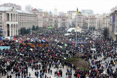 Во время выступления Барак Обама поддержал митингующих в Украине