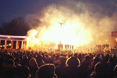 МВД Украины возбудило уголовное дело по факту погромов на Майдане 19 января