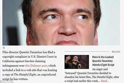 Тарантино подал в суд на портал, где разместили сценарий его фильма