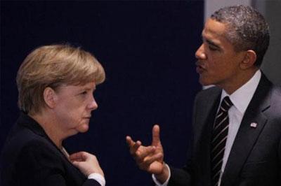 Барак Обама и Ангела Меркель поддерживают действия Киева