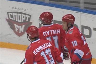 Путин провел финальный матч в турнире Ночной хоккейной лиги