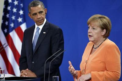 Барак Обама и Ангела Меркель обсудят ситуацию на Украине