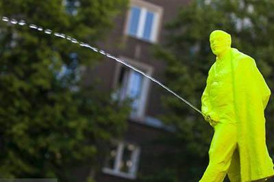 В Челябинске Ленина вновь раскрасили в цвета украинского флага - Цензор.НЕТ 3460