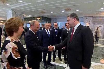 Путин и Порошенко приняли решение проложить переговоры по газу