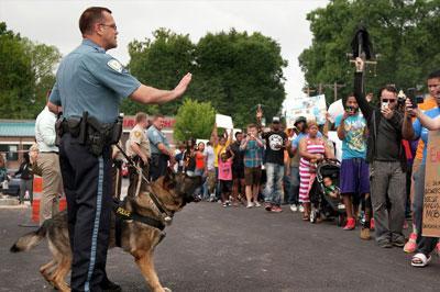 Для разгона демонстрантов в Фергюсоне полиция США применила дымовые шашки