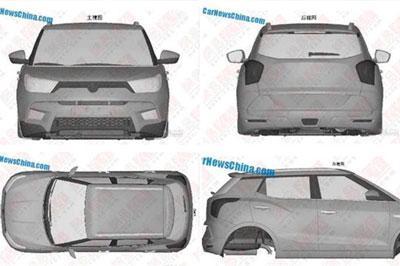 В скором времени будет представлен новый кроссовер «SsangYong X100»