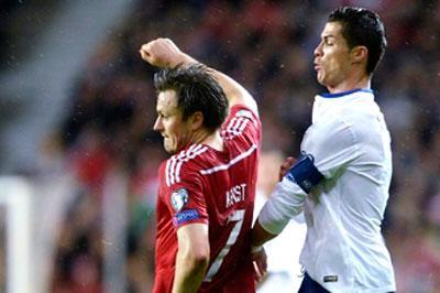 Гол Роналду помог Португалии выиграть сборную Дании