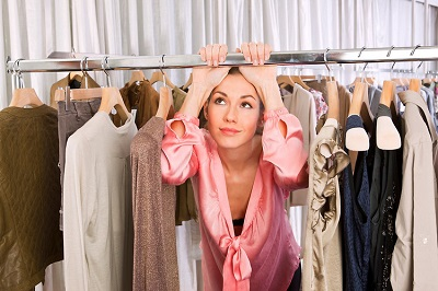 Woman-in-clothes-shop