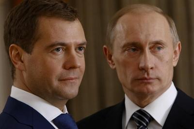 Путин с Медведевым