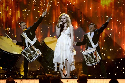 Danish singer Emmelie de Forest performs during the dress rehearsal for the final of the 2013 Eurovision Song Contest in Malmo Arena Hall