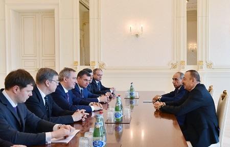 Дмитрий Рогозин и Ильхам Алиев обсудили совместный проект в сфере машиностроения.