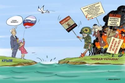 Свидомые «патриоты» требуют от Петра Порошенко превратить Крым в остров