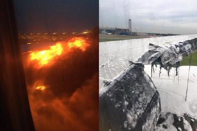 Самолет Singapore Airlines с горящим крылом приземлился на взлетно-посадочную полосу аэропорта «Чанги» (фото+видео)