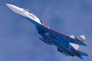 Потерпел крушение истребитель Су-27, пилотируемый командиром русских витязей