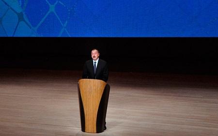 Ильхам Алиев на бакинском Международном гуманитарном форуме