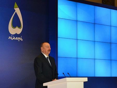 В своей речи на Форуме президент Азербайджанской республики, Ильхам Гейдарович Алиев