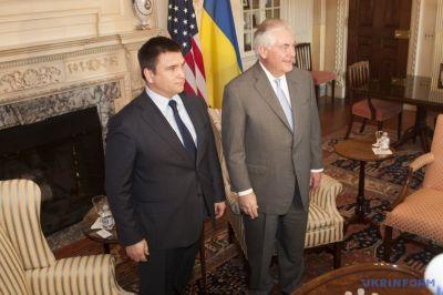 Кклимкин рассказал о позиции США и утверждениях Тиллерсона о том, что Америка не оставит Украину
