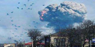 В Балаклее на военных складах снаряды продолжают взрываться, разлетаясь на километры