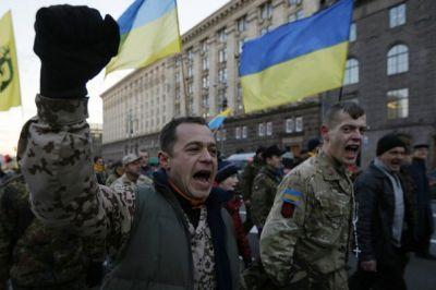 """Радикалы в Киеве блокируют здание Россотрудничества, пытаясь сорвать акцию """"Тотальный диктант"""""""