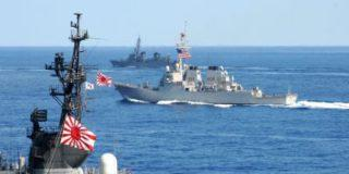 Вблизи Корейского полуострова начались военные учения американских и японских ВМС