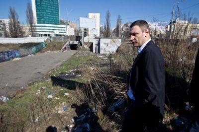 Мэр города Киева Виталий Кличко возглавил торжественное открытие автоматического туалета