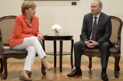 Только что началась встреча президент РФ Владимира Путина и немецкого канцлера Ангелы Меркель