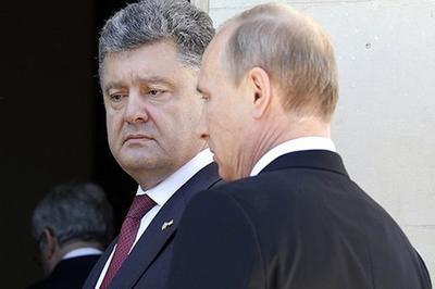 Москва просила Порошенко воздержаться открайних действий вДонбассе— Путин