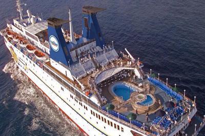 Современный круизный корабль «Князь Владимир» начал курсировать между Сочи и Ялтой