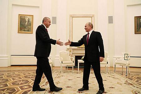 Встреча Путина и Эрдогана