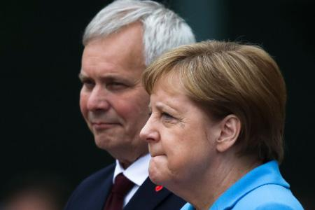 Ангела Меркель на встрече с  Antti Rinne