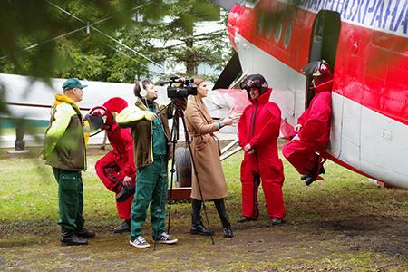 Тренировку авиапожарных ФБУ «Авиалесоохрана» посетили представители шести ведущих федеральных телеканалов