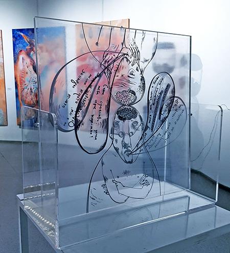 Выставка Анны Силивончик «Много букв»